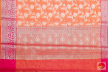 pallu detail of banarasi silk cotton saree