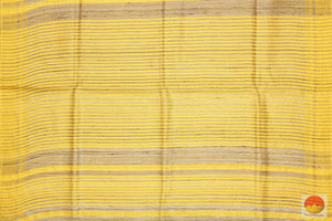 pallu detail of Tussar silk saree
