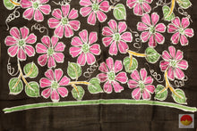 pallu details of batik silk saree