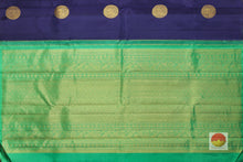 pallu detail of borderless kanjivaram pure silk saree