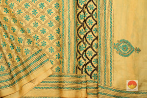 body, border and pallu of tussar pure silk saree
