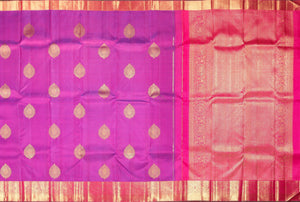 body and pallu of purple  kanjivaram pure silk saree