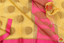 Load image into Gallery viewer, fabric details of banarasi silk cotton saree