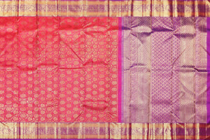 Traditional Design Handwoven Pure Silk Kanjivaram Saree - Bridal Saree - PBR 002 Archives