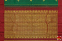 pallu details of kanchipuram silk saree