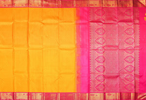 Traditional Design Handwoven Pure Silk Kanjivaram Saree - Silk Thread Work - PV 489