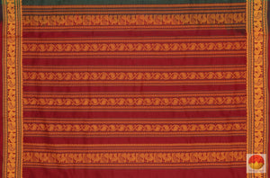 pallu detail of polycotton saree