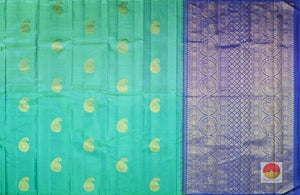 body and pallu of borderless kanjivaram pure silk saree