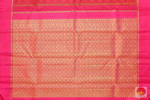 pallu of kanjivaram pure silk saree