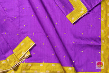 Handwoven Pure Silk Saree - Raw Silk - Mirror Work - PV RS 501