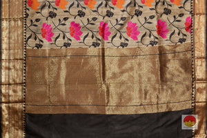 pallu detail of banarasi tussar pure silk saree