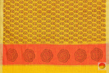 pallu details of silk cotton saree