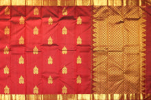 body and pallu of wine red  kanjivaram pure silk saree