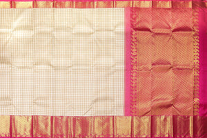 body and pallu of  beige kanjivaram pure silk saree