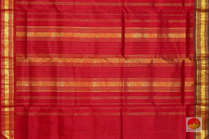 pallu detail of 9 yards kanjivaram pure silk saree