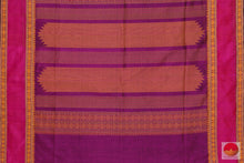 Load image into Gallery viewer, pallu of kanchi silk cotton saree