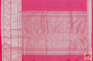 pallu of silk cotton saree