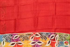 body of batik silk saree