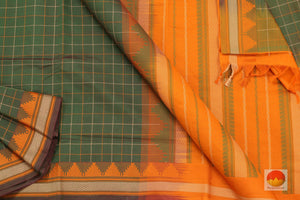 fabric detail of yarn in  polycotton saree