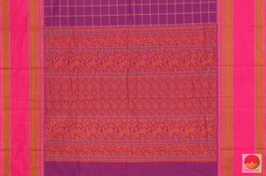 pallu of  cotton saree