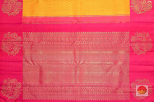 pallu detail of Kanjivaram silk  saree