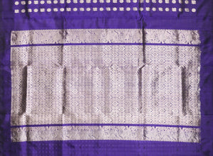 Borderless Handwoven Pure Silk Kanjivaram Saree - Pure Zari - PA 167 Archives