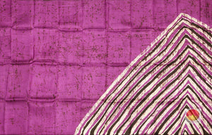 pleats section of partly pallu batik pure silk saree