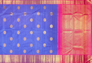 Detail of body and pallu of kanjivaram silk saree