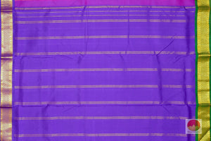 violet second pallu of 9 yards kanjivaram saree