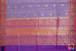 pallu of matka silk saree