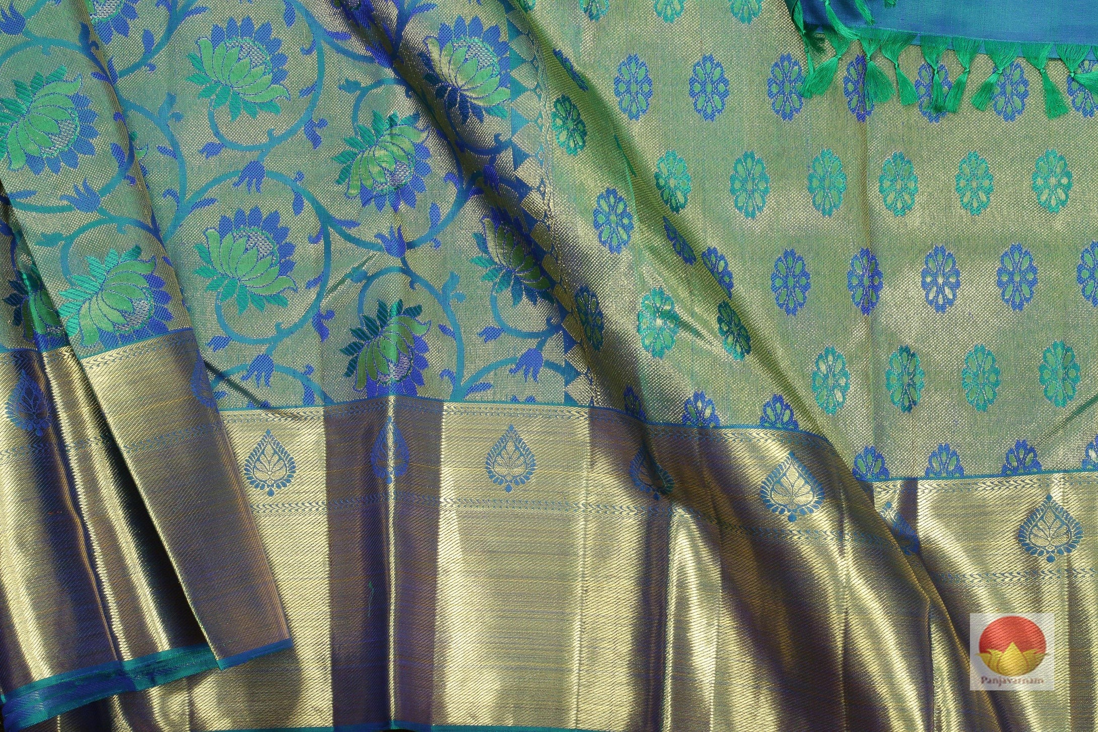 body and pallu of bridal kanjivaram silk saree
