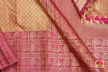 Load image into Gallery viewer, body, border and pallu of kanjivaram pure silk saree