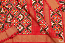 Load image into Gallery viewer, fabric detail of pochampally ikkat silk saree