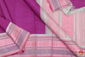 fabric details of kanchipuram silk sareee