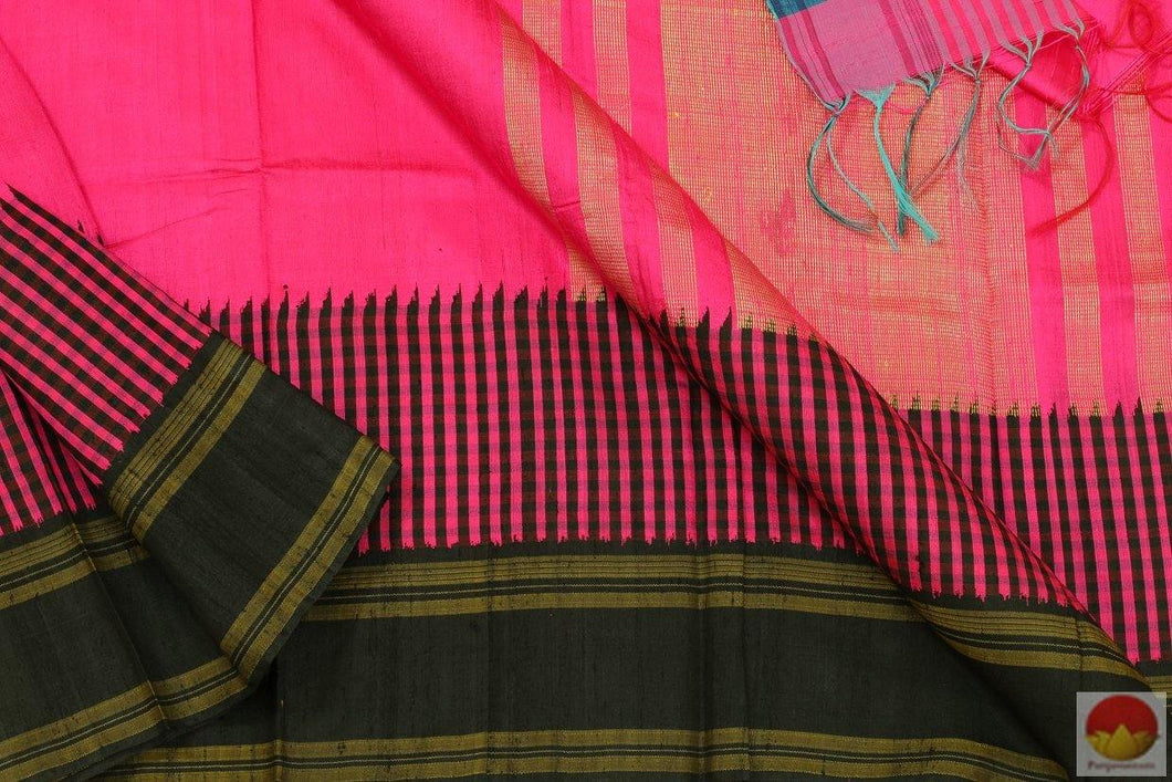 fabric detail of kanchipuram jute silk saree
