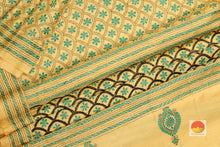 fabric detail of silk yarn in  tussar silk saree