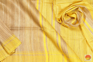 fabric detail of yarn in tussar silk saree