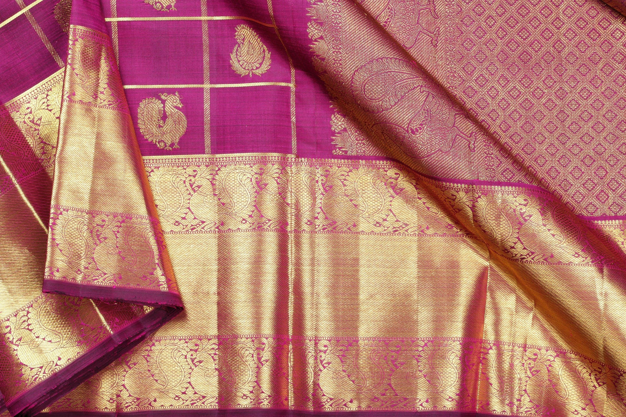 Traditional Design Handwoven Pure Silk Saree - Bridal Saree - PVJU 0618 1480 Archives