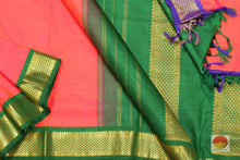 body, border and pallu of 9 yards kanjivaram saree