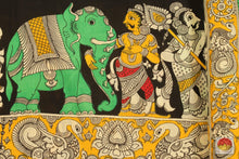 Load image into Gallery viewer, design detail of kalamkari silk saree