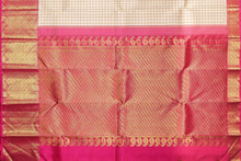 pallu detail of PINK AND BEIGE traditional design kanjivaram pure silk saree