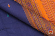 Load image into Gallery viewer, fabric detail of yarn in  polycotton saree