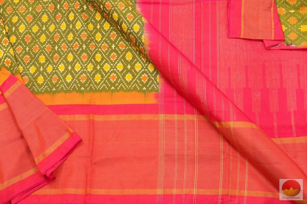 Pochampally Ikkat Silk Saree - Handwoven Pure Silk - PIK 97 - 2