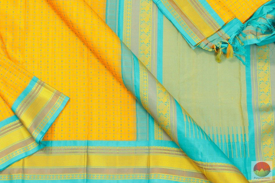 Kanchipuram Silk Saree - Handwoven Pure Silk - No Zari - PV NZ 129