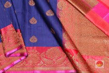 body, border and pallu of banarasi silk saree