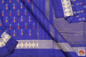 fabric detail of pochampally silk saree