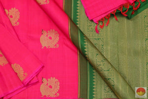 body and pallu of borderless kanchipuram silk saree