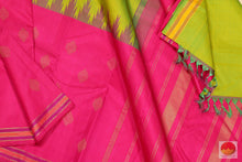 Temple Border - Traditional Design Handwoven Pure Silk Kanchipuram Saree - Half and Half - PV G 1921 S
