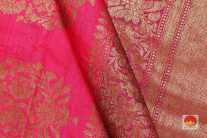 fabric detail of banarasi matka silk saree