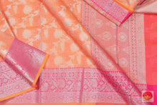 body, border and pallu detail in banarasi silk cotton saree